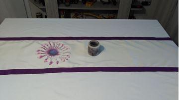 Снимка на Декоративна лента за маса - Принт  Цвете- 35/150см