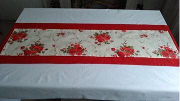 Снимка на Комплект Декоративни ленти за маса в три цветови съчетания - Червено, лила и пепел от рози - 45/170 и 30/125