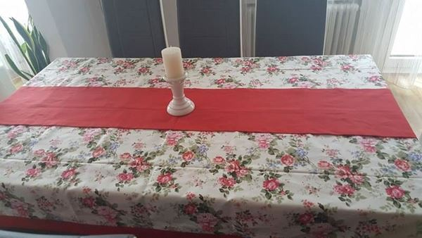 """Снимка на Комплект Покривка за маса с лента  """"Цветно настроение"""" - различни размери"""