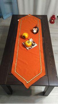 """Picture of Коледна декоративна лента за маса """"Оранж"""" - 35/125см"""
